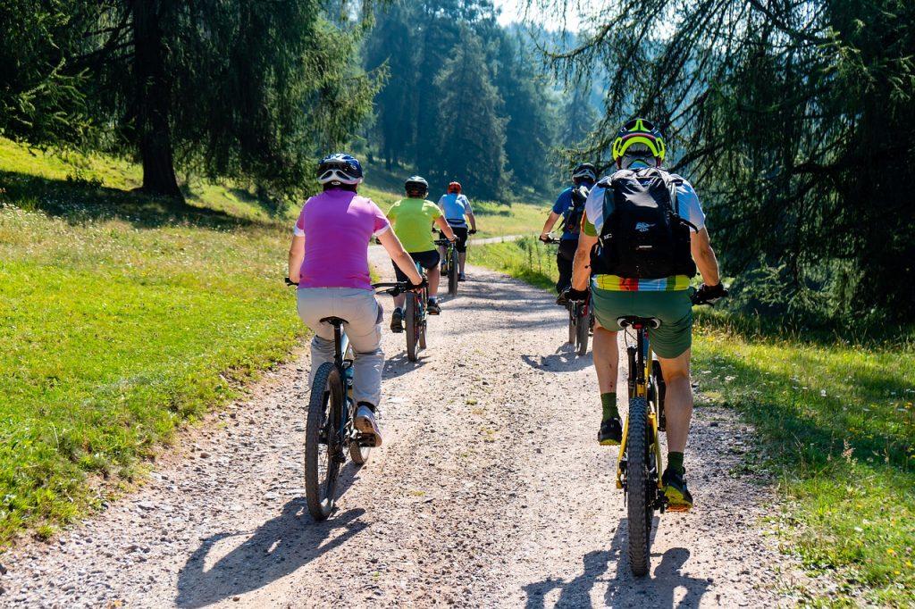 Fahrrad Ausflug als Gruppe im Schwarzwald