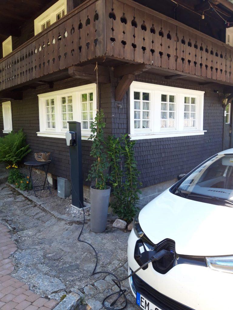 Stromtankstelle direkt am Ferienhaus